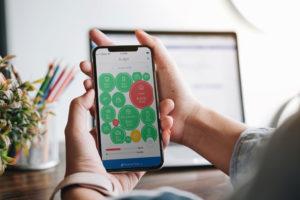 UCCU mobile app Budget screen